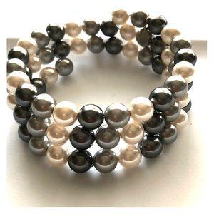 Pearlesque wrap bracelet